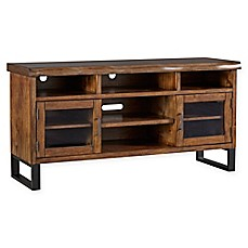 Image Of Verona Home Ridley Live Edge Rustic TV Stand
