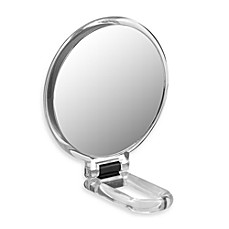 image of Folding Hand Held 10x Magnification Mirror