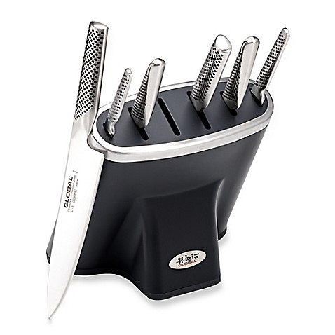 Global Zeitaku 7 Piece Professional Knife Block Set In
