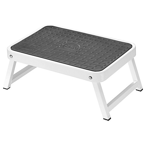 image of halo folding step stool in white