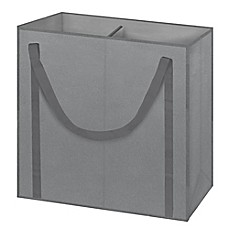 image of Arm & Hammer™ 2-Compartment Laundry Hamper in Grey