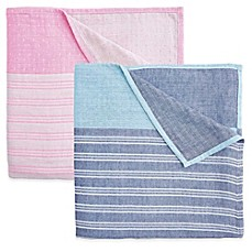 image of Elegant Baby® 3-Ply Yarn-Dyed Cotton Muslin Adult Blanket