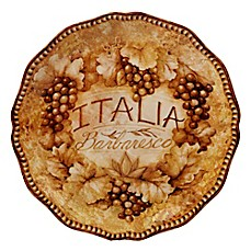 image of Certified International Gilded Wine 13-Inch Round Platter