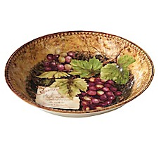 image of Certified International Gilded Wine Serving/Pasta Bowl