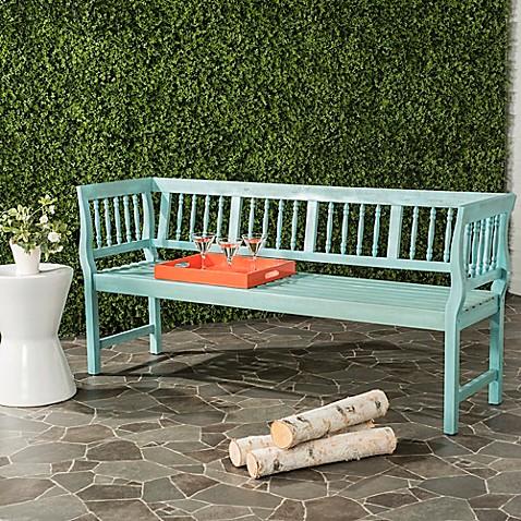 Buy Safavieh Brentwood Outdoor Bench In Blue Beige From