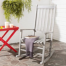 image of safavieh shasta rocking chair in grey wash - Folding Patio Chairs