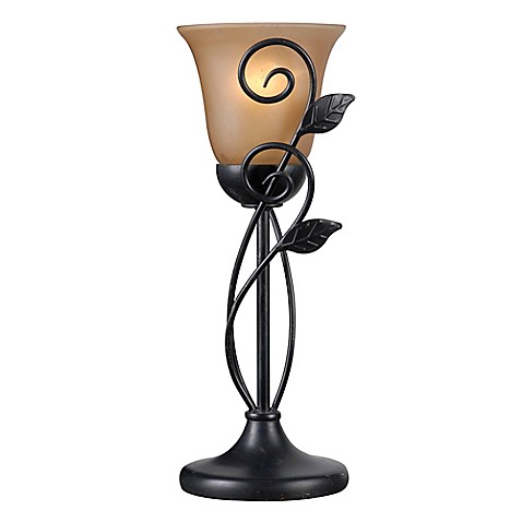 Kenroy home arbor torchiere table lamp in oil rubbed bronze with kenroy home arbor torchiere table lamp in oil rubbed bronze with glass shade aloadofball Images