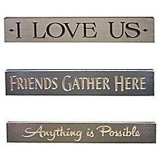image of Inspirational Wood Plaque Wall Art Collection