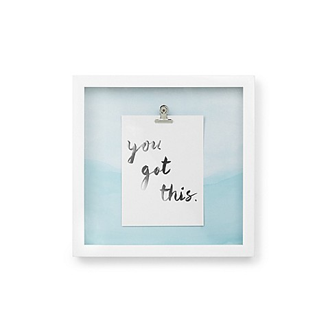 Umbra 174 Motto Quot You Got This Quot Shadow Box Wall Art In White