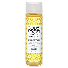 image of basq 8 oz. Body Boost Stretch Mark Oil in Milk and Honey
