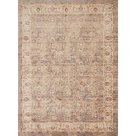 Magnolia Home by Joanna Gaines Trinity Border Vines Rug in Sand/Ivory