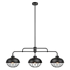 image of Globe Electric Elior 3-Light Caged Pendant in Oil Rubbed Bronze