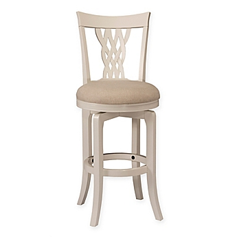 image of hillsdale embassy swivel stool in white