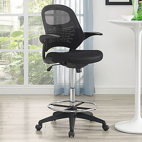 Modway Advance Drafting Stool In Black Bed Bath Amp Beyond