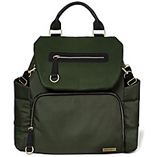 image of SKIP*HOP® Chelsea Downtown Chic Diaper Backpack in Olive Green