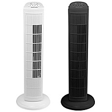 image of sharper image 30inch 3speed oscillating tower fan