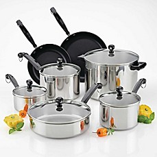 image of Farberware® Classic Series™  II Stainless Steel 12-Piece Cookware Set