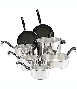 Baterías de cocina Farberware® Classic Series™, de acero inoxidable de 12 piezas