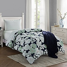 image of lacey 16piece twintwin xl comforter set in navy