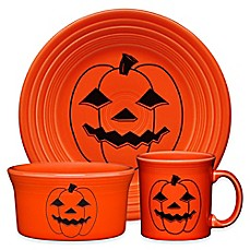 image of fiesta halloween spooky pumpkin dinnerware collection - Halloween Plates Ceramic