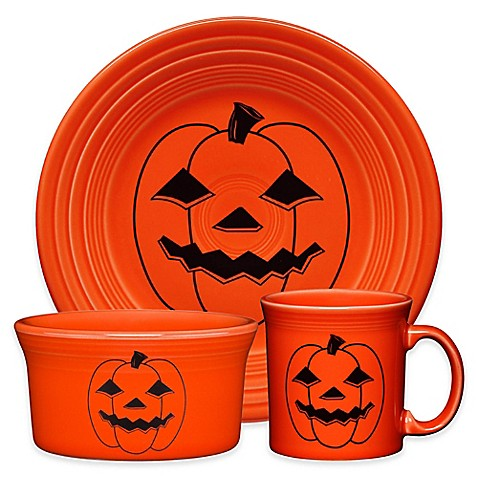 Fiestau0026reg; Halloween Spooky Pumpkin Dinnerware Collection  sc 1 st  Bed Bath u0026 Beyond & Fiesta® Halloween Spooky Pumpkin Dinnerware Collection - Bed Bath ...