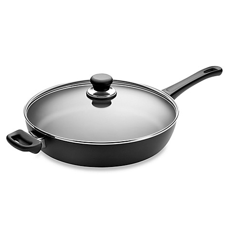 scanpan classic non stick ceramic titanium 12 1 2 inch covered saute pan bed bath beyond. Black Bedroom Furniture Sets. Home Design Ideas