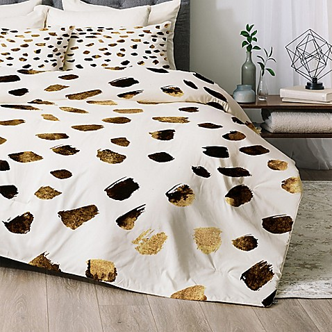 deny designs gold v03 comforter set bed bath beyond. Black Bedroom Furniture Sets. Home Design Ideas
