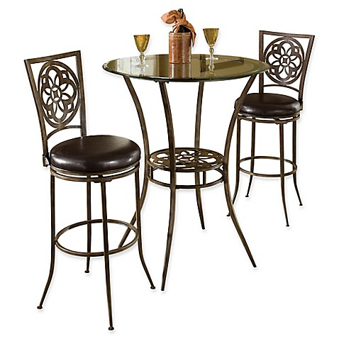 Hillsdale Marsala 3 Piece Bar Height Bistro Dining Set In