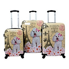 image of Chariot 3-Piece Hardside Spinner Luggage Set in Paris Pink