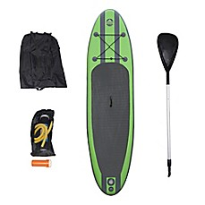 image of Outdoor Tuff Inflatable Paddle Board Set in Green