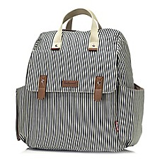 image of Babymel™ Robyn Convertible Diaper Bag in Navy Stripe