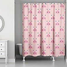 Image Of Designs Direct Pig Face Friend 74 Inch Shower Curtain In Pink Kids Curtains Bed Bath Beyond