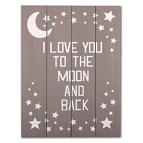 The Peanut Shell 174 Quot I Love You To The Moon And Back Quot Wall