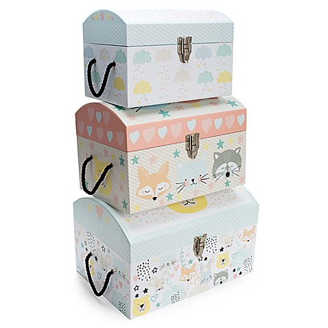 Tri Coastal Design Baby Scribbles Nested Dome Trunks In