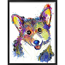 image of Colorful Pup Framed Wall Art