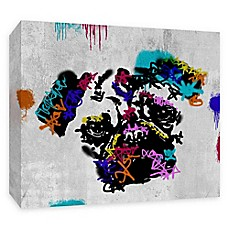 image of PTM Images Street Pug 20-Inch x 16-Inch Canvas Wall Art