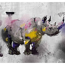 image of PTM Images Safari Graffiti II 38-Inch x 28-Inch Canvas Wall Art