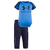 image of Under Armour® 2-Piece Digital Print Bodysuit and Pant Set in Blue