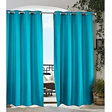 image of home fashions gazebo grommet top window curtain panel