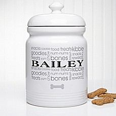 image of Doggie Delights Treat Jar