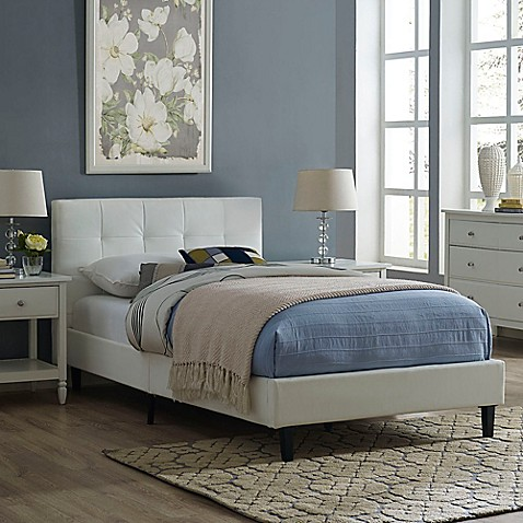 Modway Linnea Twin Bed In White