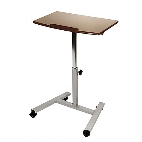 Seville Classics Tilting Sit Stand Mobile Laptop Desk Cart