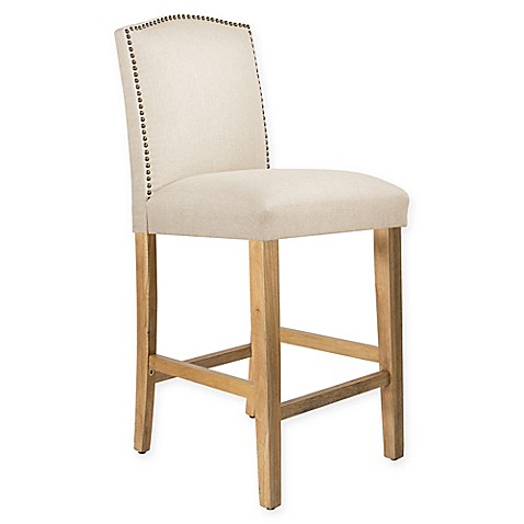 buy skyline furniture diana linen bar stool in off white from bed bath beyond. Black Bedroom Furniture Sets. Home Design Ideas