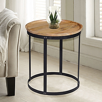 Lovely Image Of Carolina Cottage Park Drum Accent Table