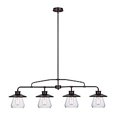 image of Globe Electric Angelina 4-Light Pendant in Oil-Rubbed Bronze