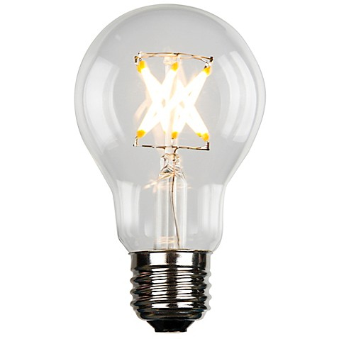 luminance vintage filament a19 40 watt equivalent led light bulb bed bath beyond. Black Bedroom Furniture Sets. Home Design Ideas