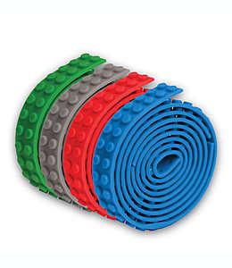 Cinta tipo bloques de construcción Build Bonanza en verde/azul/rojo/gris