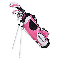 image of Tour Edge Golf HT Max-J Junior Golf Set for Ages 9-12 in Pink/White