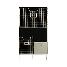 image of Kate and Laurel Nicholas Wall Organizer in Black/Silver