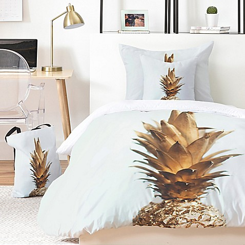 Deny Designs The Gold Pineapple Duvet Cover Bed Bath